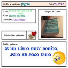 """Ángela ha leído este libro, """"bonito pero duro"""" y con él ha conseguido superar el reto de leer un libro que te haga llorar."""