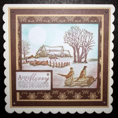 This is the gorgeous new scene-it set designed by Sharon Bennett. Clear set consists of 12 stamps. As seen on Create & Craft. This Gorgeous card was made by Heidi Green