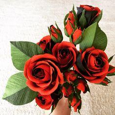 ペーパーフラワーcrepepaperflower クレープペーパーフラワー 紙の花 さな香