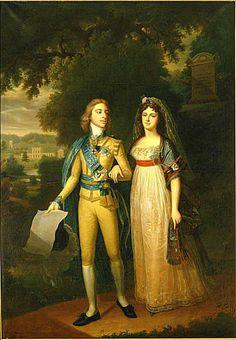 Jonas Forsslund (1754-1809): Gustav IV Adolf of Sweden and Frederica of Baden. 1800.  Gripsholms Slotts samlingar.