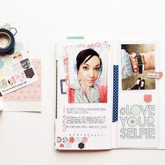 andrea gray (@retrohipmama) on Instagram. Travelers notebook scrapbooking.
