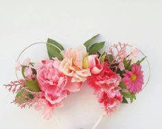 Pink Wildflower Mouse Ears | Flower and Garden Festival Mouse Ears | Reversible Floral and Wire Mouse Ears | Princess Mouse Ears