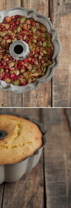 Rhubarb Vanilla Bean Bundt Cake with Rhubarb Syrup | this heart of mine