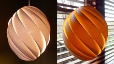 Swirl pendant lamp - how to make a spiral paper lampshade/lantern - EzyC...