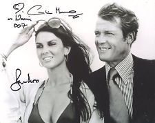 James Bond The Spy Who Loved Me Photo Sig'd by Roger Moore & Caroline Munro F973