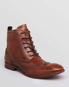 guys-vintage: H by Hudson Angus Leather Wingtip Boots