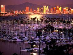 San Diego, California. San Diego harbor.