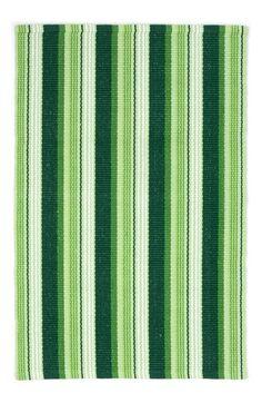 Dash & Albert 'Evergreen' Ticking Stripe Rug
