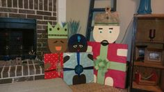 Three Wise Man out of cardboard