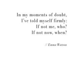 I love this motivational Emma Watson quote!