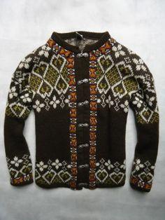 VINTAGE DIRDALSTRIKK Norway size 48 NORDIC Wool Sweater