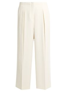 ELIZABETH AND JAMES Billie Pleated Wide-Leg Cady Trousers. #elizabethandjames #cloth #trousers