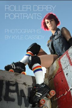 Roller Derby portraits. Street style for 2015 calendar.