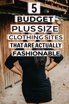 5 Affordable Plus Size Clothing Websites Affordable Plus Size Clothing, Plus Size Womens Clothing, Plus Size Outfits, Sites Online, Online Shopping Sites, Shopping Hacks, Online Boutiques, Plus Size Tips, Plus Size Fashion For Women