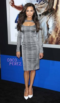 Naya Rivera walks the red carpet at the 42 premiere in Los Angeles.