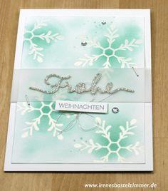Weihnachtskarte_Schneeflocken_Winterliche Weihnachtsgrüße
