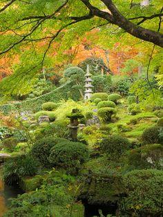 Shuheki-en Garden of Sanzen-in Temple, Kyoto, Japan