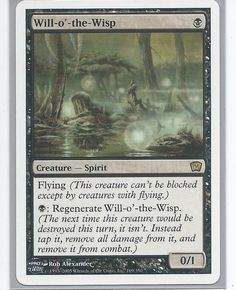 Magic The Gathering ~ 1x Will-O/'-The-Wisp ~ REVISED ~ M//NM