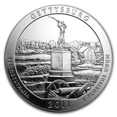 Shop for the 2011 5 oz Silver America The Beautiful Gettysburg National Military Park Coin Fine at Texas Bullion Exchange. The 2011 silver America the Beautiful coins are available at Texas Bullion! Buy Gold And Silver, Mint Gold, Bullion Coins, Silver Bullion, Gettysburg National Military Park, Real Haunted Houses, Silver Quarters, Beautiful Series, Coins For Sale
