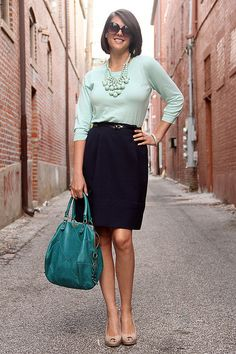 More Mint via whatiwore.tumblr.com