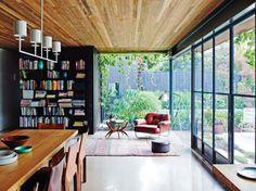 A leafy home studio.