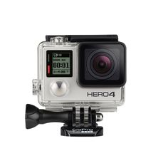 Pro-quality capture. Touch-display convenience.  Capture your world in an all-new way with HERO4 Silver, the first-ever GoPro to feature a built-in touch display. Controlling the camera, framing shots and playing back content is now ultra convenient—just view, tap and swipe the screen