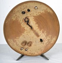 peter voulkos ceramics | PETER VOULKOS: SCULPTURED CERAMIC PLATE 18 3/4 inches