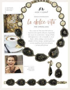 Discover the inspiration behind our 'La Dolce Vita' capsule collection! https://www.chloeandisabel.com/boutique/tommiedwards