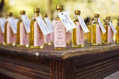 Olive oil or jam! Edible diy wedding favors