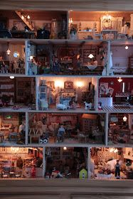 """Here is my biggest dollhouse. My husband has made it and it is made from elm.  It has 18 rooms and it calls """"Väinölä""""             It takes ..."""