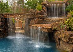 Waterfall on the pool