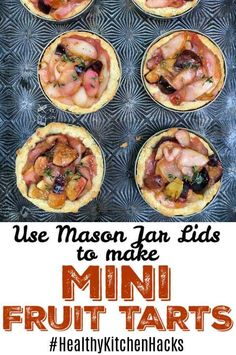 Use Mason jar lids to make portion sized fruit pies like these mini pear and fig tarts! Mini Fruit Tarts, Fig Tart, Mini Desserts, Cooking Light, Nutrition Tips, Popular Recipes, Cooking Tips, Food Photography, Good Food