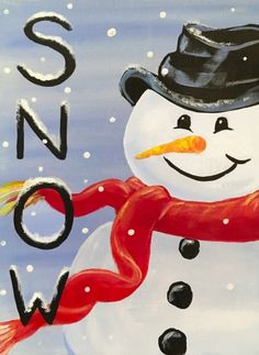Join us for a Paint Nite event Fri Dec 2018 at 7520 Teague Road Hanover, MD. Purchase your tickets online to reserve a fun night out! Paper Christmas Ornaments, Christmas Canvas, Christmas Signs, Christmas Art, Snowmen Paintings, Christmas Paintings, Painted Slate, Painted Rocks, Wine Painting