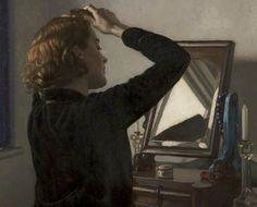 HAROLD KNIGHT - una muchacha que se peina