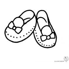 Disegno di Scarpette per Bambina da colorare Shoes Clipart, Coloring Books, Coloring Pages, Fashion Face, Tory Burch, Clip Art, Embroidery, Drawings, Caterina