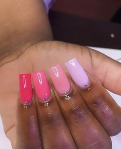 Cute Short Nails, Cute Nails, Soft Nails, Glow Nails, Long Acrylic Nails, Dream Nails, Square Nails, Mani Pedi, Nail Inspo