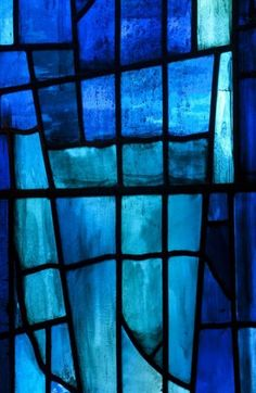 John Piper - Stained Glass Window- In the Chapel at Churchill College- Exhibition from June - Prints for sale. Azul Indigo, Bleu Indigo, Painting On Glass Windows, Stained Glass Windows, John Piper, Image Bleu, Bleu Nature, Everything Is Blue, Aesthetic Colors