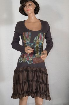 Robe marron SAVE THE QUEEN   taille L #fripie