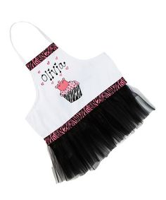 Little pastry chefs add sparkle to the kitchen when they're helping bake sweet treats in this adorable apron. Two sashes tie firmly, keeping bits of dough and sugar off clothes, and it can be personalized for an extra-special touch. Zebra Cupcakes, Black Cupcakes, Christmas Aprons, Diy Christmas Gifts, Kids Kitchen Accessories, Personalized Aprons, Sewing Aprons, Her Style, Girly Things