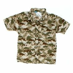 FADED GLORY Green Camo Camouflage Youth Boy/'s Polo Shirt Size 14-16 XL NEW NWOT