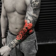 Rose, arm tattoo on TattooChief.com