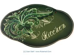 Rosemaled Kitchen Sign in Wood Designed Handpainted Signed by The Artist | eBay