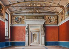 How Painter Ben Johnson Takes Architectural Representation to Incredible Levels of Realism,'Room of the Niobids II' (2011, acrylic on canvas, 71 x 99in / 180 x 252cm): depiction of the Neues Museum (Berlin) by David Chipperfield Architects & Julian Harrap. Image © Ben Johnson