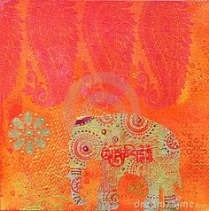 I love Indian art and textiles, especially the bright colors.