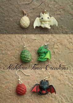 Daenerys's Dragons Earrings Polymer Clay | par Nakihra Fimo Creations