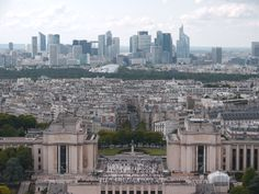Trocadéro - La Défense vus de la Tour Eiffel, août 2014