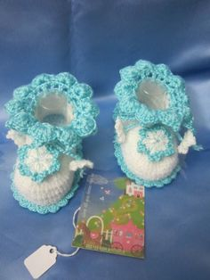 Baby Booties Crochet Booties Toddler Girl Shoes by MiLaViKnits
