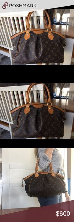 💕 AUTHENTIC LOUIS VUITTON TIVOLI HANDBAG PURSE 💕 Beautiful authentic LOUIS VUITTON Tivoli purse.   Good pre-loved condition.  Leather is nice honey color patina.  Inside has one big and one small slip pockets.  Zipper is functional. Outside of purse has no tears or major stains.  This purse is in good condition but does have normal signs of wear.  No piping showing on bottom corners. Very roomy!  ❣️Please see other listing in my closet for additional pictures. ❣️ Louis Vuitton Bags…