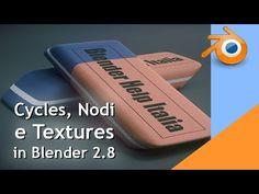 Nodi, Textures e Cycles in Blender Blender 3d, Blender Tutorial, 3d Tutorial, 3d Modeling, 3d Animation, 2d, Cycling, Content, Texture