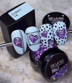 Color For Nails, Purple Nails, Fancy Nails Designs, Nail Art Designs, Nail Art Wheel, Flamingo Nails, French Acrylic Nails, Valentine Nail Art, Toe Polish